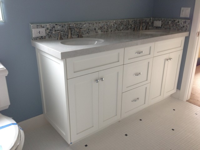 Bathroom Vanity Shaker White Beach Style Bathroom