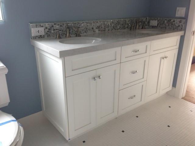Bathroom Vanity Shaker White Beach