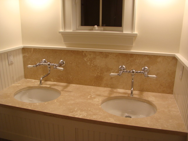 Bathroom Vanity Tops And Backsplashes - Pictures of tiled bathroom vanity tops
