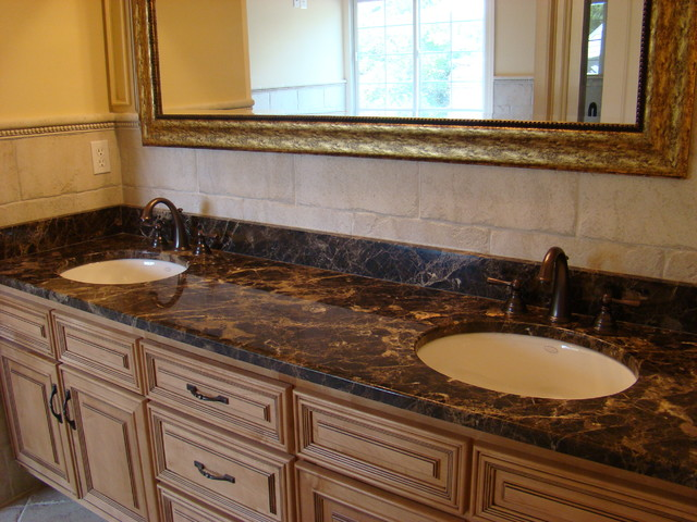 Bathroom vanity tops and backsplashes for Tile countertops bathroom ideas