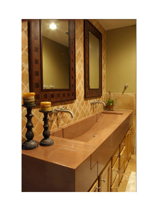 Bathroom Vanity Trough Sink - This is a custom trough sink done for a residential home in the Orlando Area.