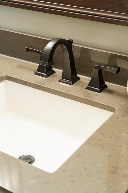 Countertop Options For Undermount Sink : Bathroom Vanity with Quartz Countertop, Undermount Sink, and Bronze ...