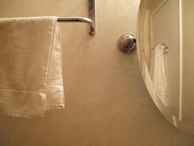 Bathroom venetian plaster contemporary bathroom san for Venetian plaster bathroom ideas