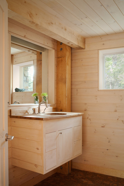 Bathroom Rustic Bathroom Portland Maine By Whitten Architects