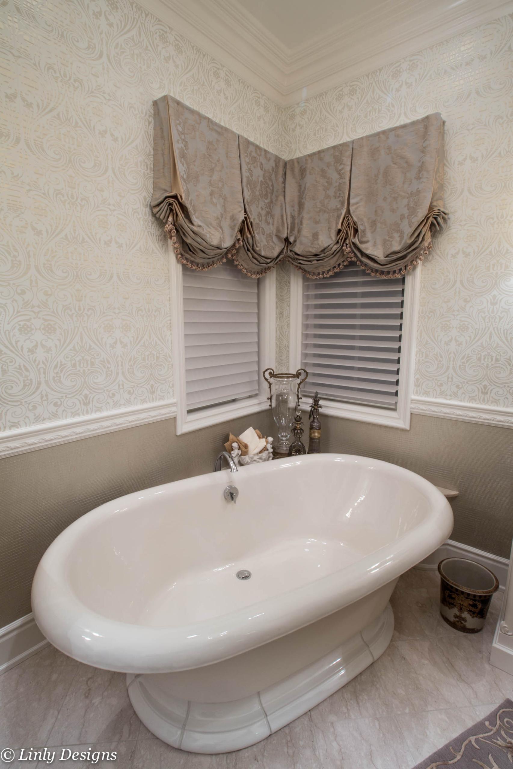 Master Bathroom Window Treatments Houzz