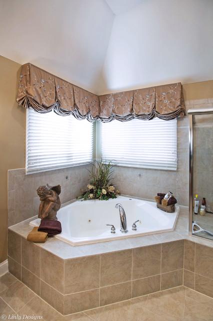 Bathroom Window Treatments Traditional Bathroom Chicago By Linly Designs
