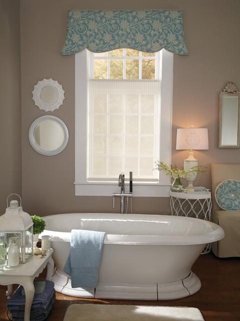 BATHROOM WINDOW TREATMENTS Modern Bathroom