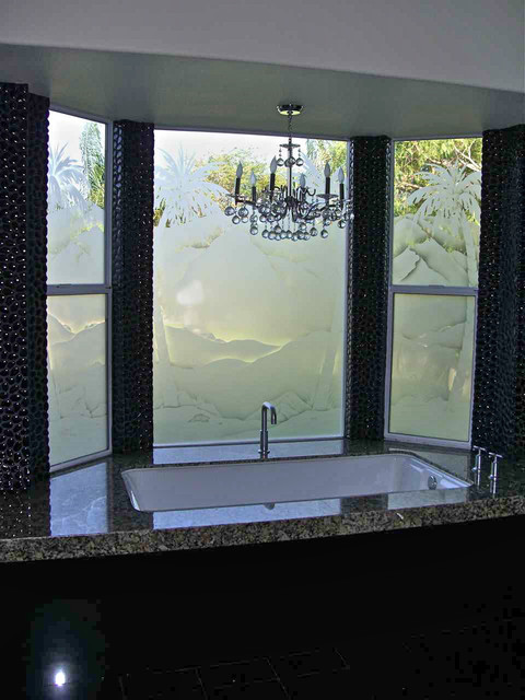 Bathroom Windows Frosted Glass Designs Privacy Glass Bathroom Other By Sans Soucie Art Glass