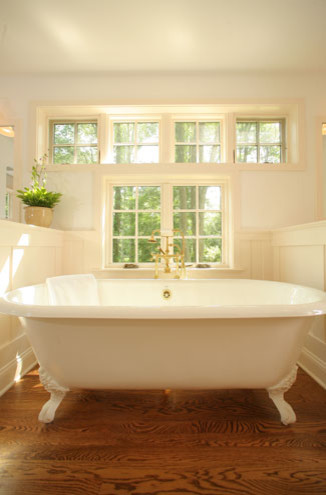 Bathroom with Claw Foot Tub traditional bathroom