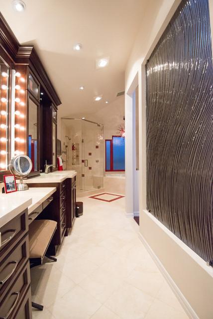 bathroom with dewitt designer kitchens