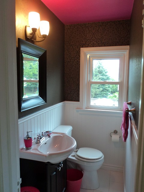 Bathroom With Pink Ceiling Modern Bathroom Toronto