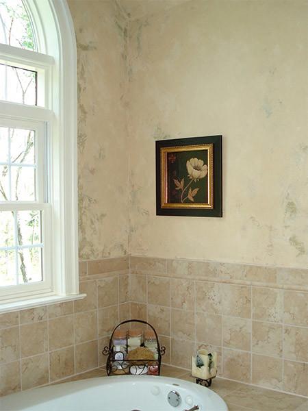 Bathrooms an old world venetian plaster finish eclectic for Venetian plaster bathroom ideas