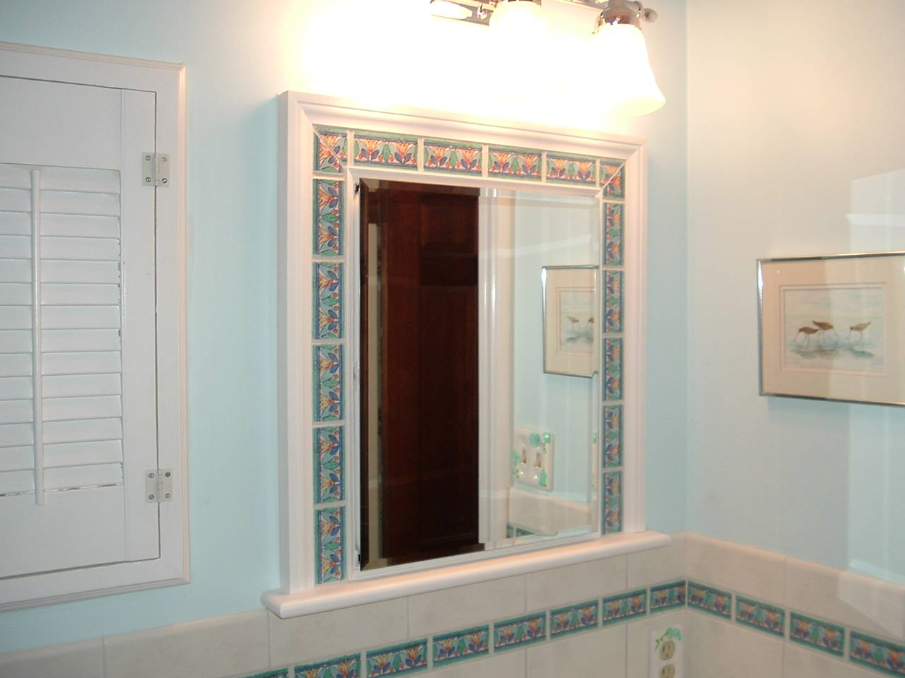 Example of a beach style bathroom design in Other