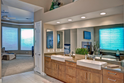 contemporary bathroom Farmhouse Sinks in the Bathroom