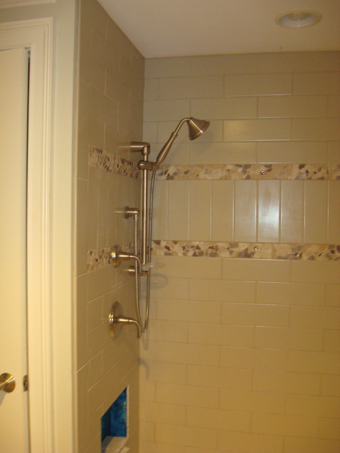 Bathrooms and Tile Patterns traditional-bathroom