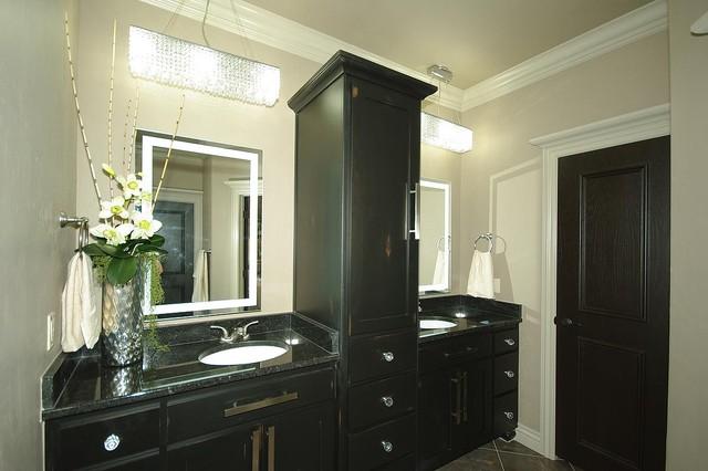 Bathrooms contemporary bathroom oklahoma city by for Bathroom cabinets okc