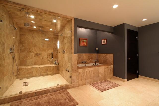 Bathrooms by flying dormer traditional bathroom for Bathroom dormer design