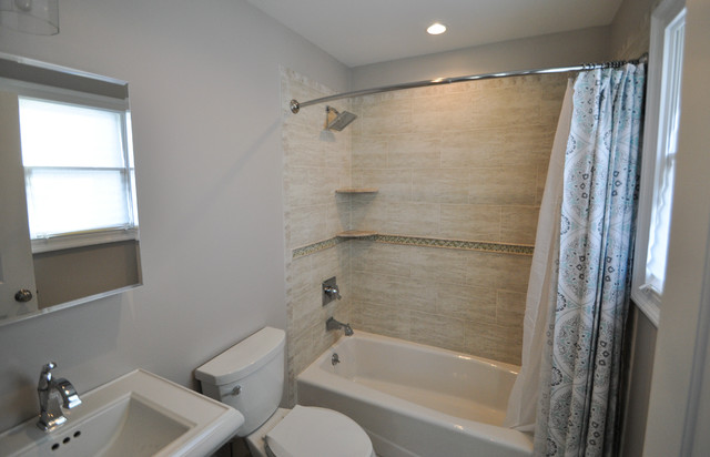 Bathrooms transitional bathroom new york by center for Bathroom remodel 8x5