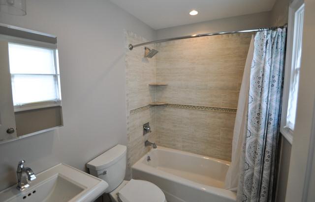 Bathrooms transitional bathroom new york by center for Bathroom remodel 8x5