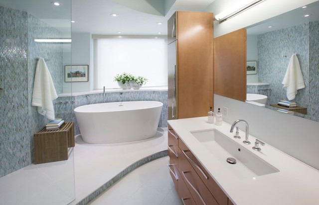Bathrooms contemporaneo montreal di ceragres for Bathroom design montreal