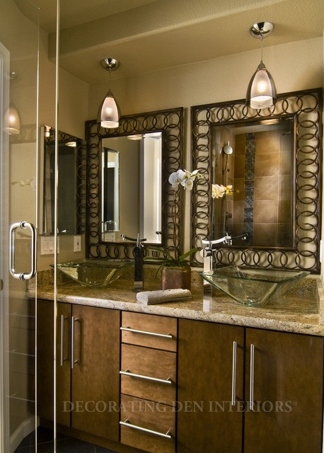 Bathrooms modern bathroom by decorating den for Houzz corporate office
