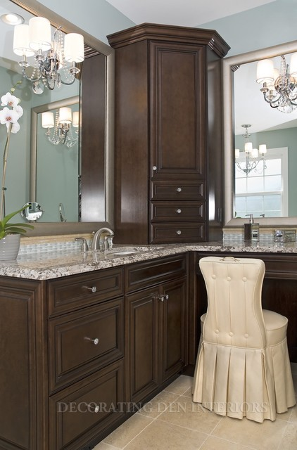 Bathrooms traditional bathroom by decorating den for Houzz corporate office
