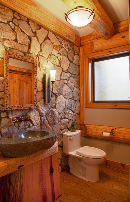 Cabin style decorating ideas town country living Rustic country style bathrooms