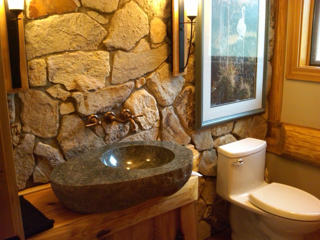 Bathrooms In Log Homes Contemporary Bathroom Calgary By Traditional Log Homes Ltd
