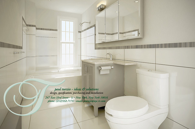 Bathrooms Small Traditional Bathroom New York By