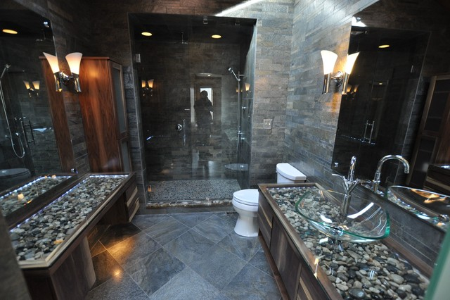 Bathrooms Spas And Stone Tile Showers Contemporary