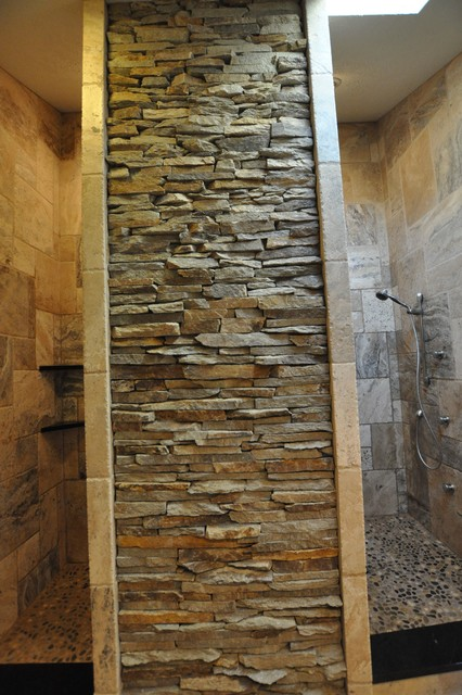 Bathrooms Spas and Stone Tile Showers traditional-bathroom