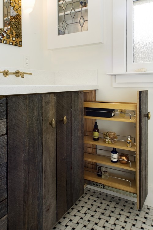 Reclaimed Wood Cabinet Doors how were these cabinet doors achieved? is it custom from reclaimed