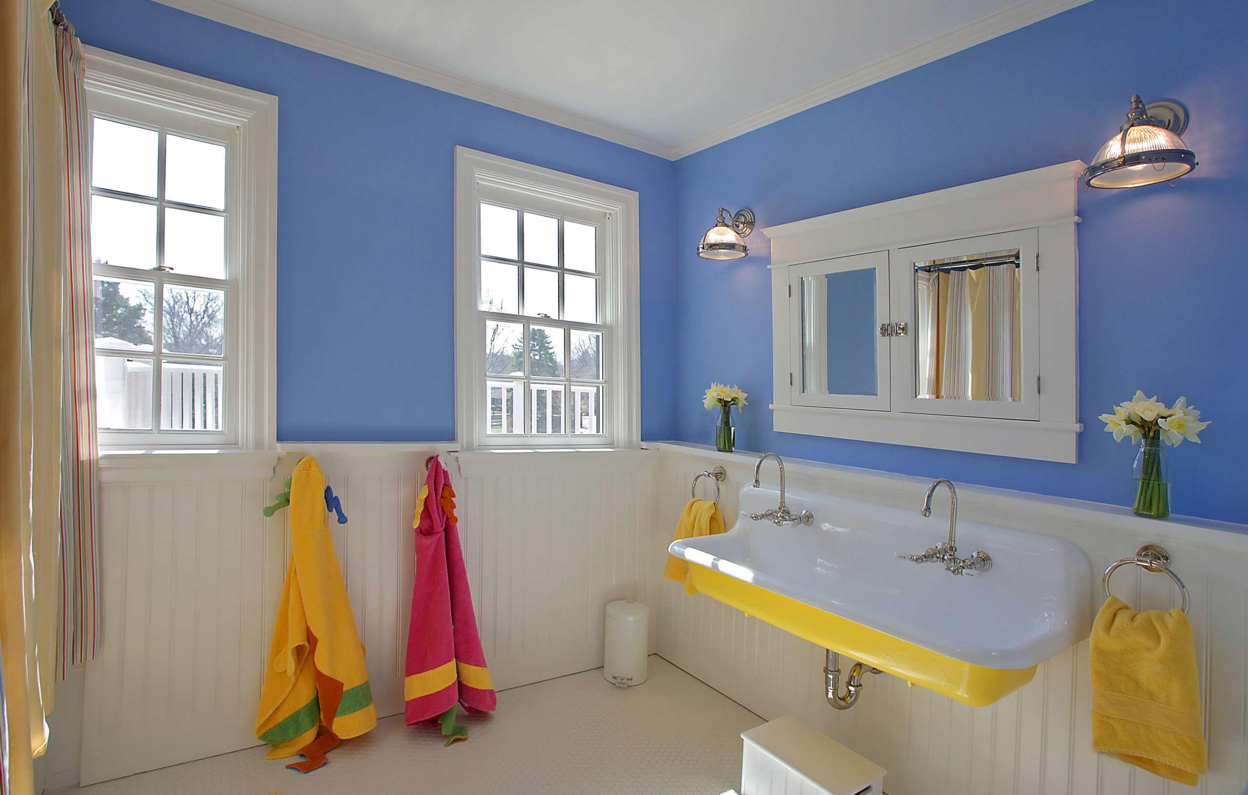 Blue And Yellow Bathroom Ideas  Houzz