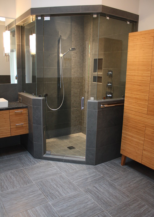 By tile collection inc more info for Bathroom designs with corner bath