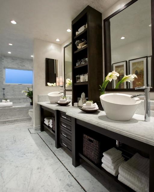 Bathrooms contemporain salle de bain orange county par wendy ann miller - Houzz salle de bain ...