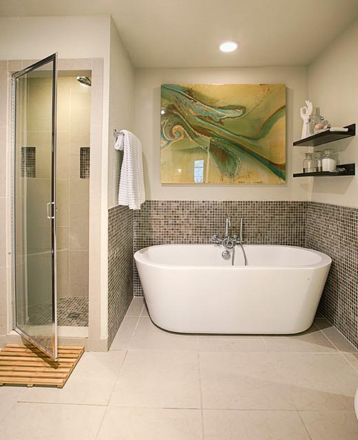 Baths eclectic bathroom austin by urbane design i for Bathroom interior design austin tx
