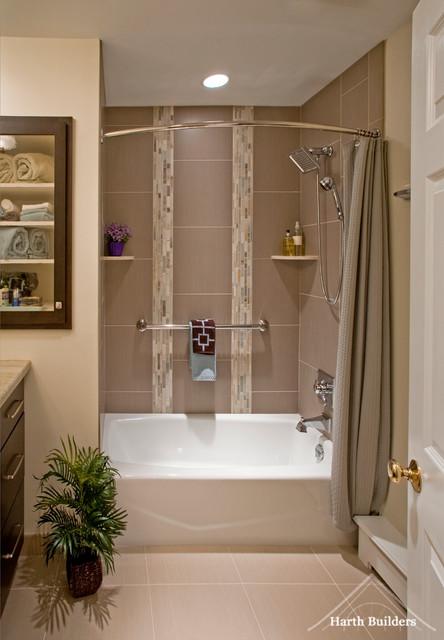Bathtub Shower Contemporary Bathroom Philadelphia