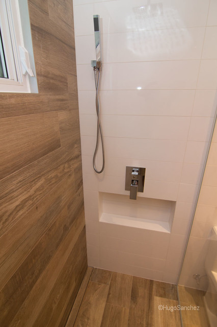 Bathtub To Shower Conversion Contemporary Bathroom Montreal By Ceramiques Hugo