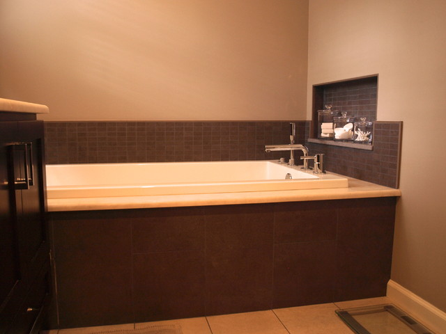 Master Bath turns on the jets European style contemporary-bathroom