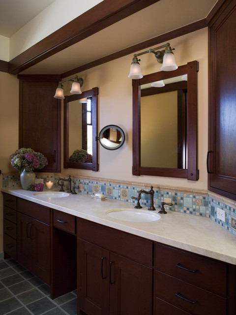 Bay area arts and crafts house traditional bathroom for Arts and crafts style bathroom design