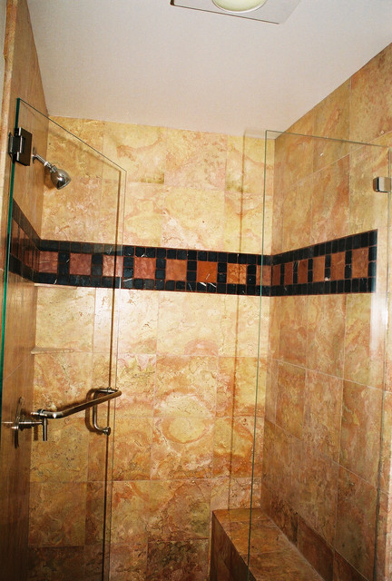 Bay area bathroom remodel with marble shower and bench for Bathroom remodelers in my area