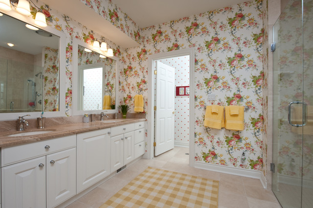 Bay harbor beauty traditional bathroom for Periwinkle bathroom ideas