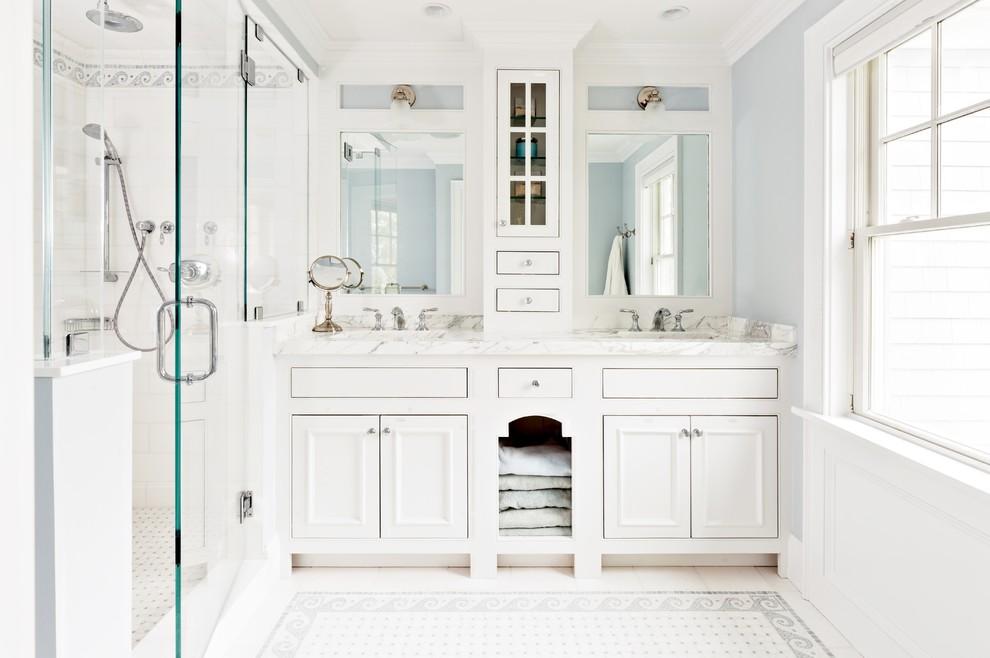Bathroom - mid-sized coastal bathroom idea in Boston
