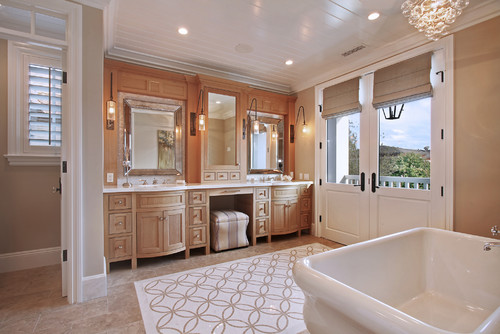 Oak Bathroom Vanity Cabinets White Countertops Ideas
