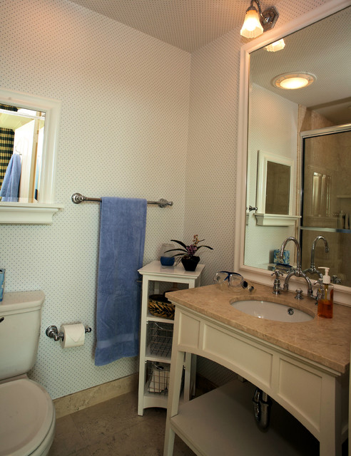 Beach cabana beach style bathroom other by canthus llc for Cabana bathroom ideas