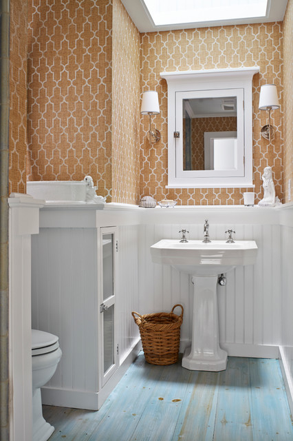 Beach classic beach style bathroom new york by for Classic floor designs