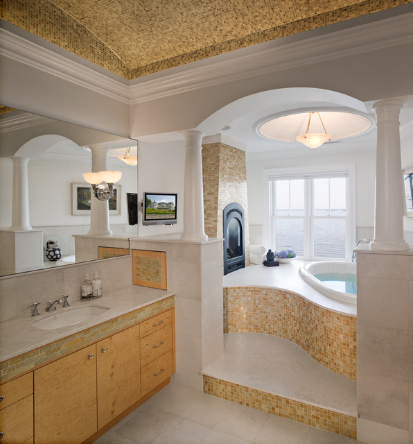 fascinating bathroom ocean view | Master Bathroom Ocean View - Beach Style - Bathroom ...