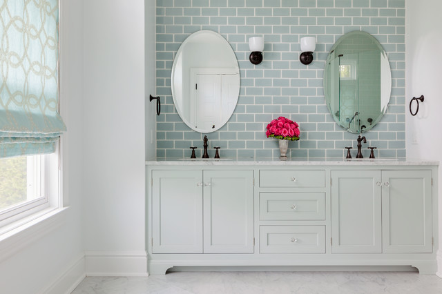 Beach House Master Bath Beach Style Bathroom New York By Ahr Designs