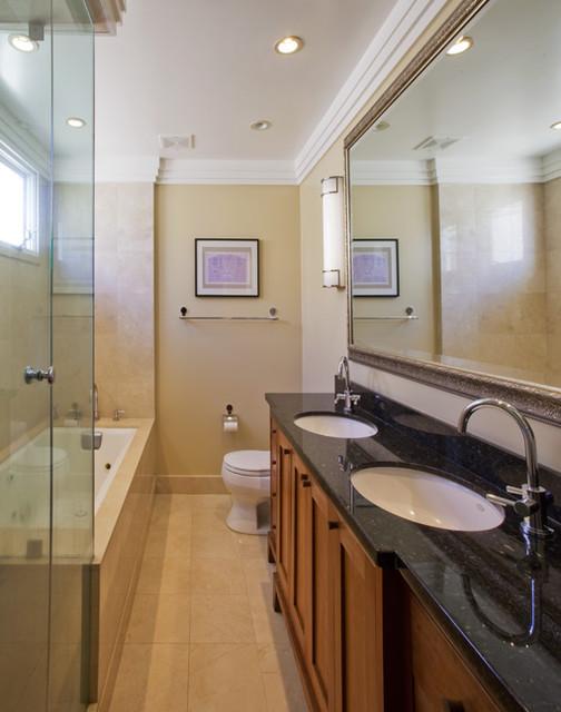 Beach house master bathroom transitional bathroom for Beach house master bathroom
