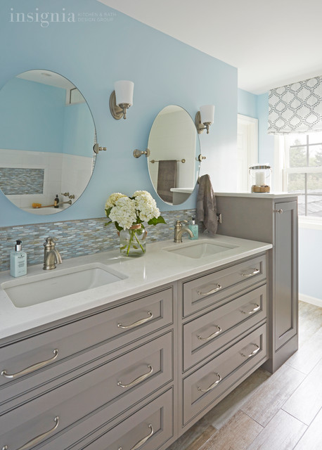 Beach inspired master bath in gurnee il beach style for Bath remodel gurnee